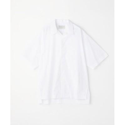 (TOMORROWLAND MENS/トゥモローランド メンズ)コットンポプリン オープンカラー半袖シャツ/メンズ 11ホワイト