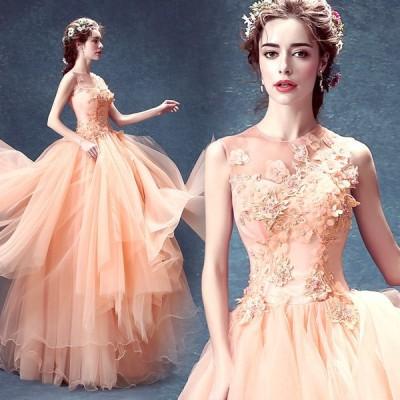 ロングドレス イブニングドレス ウエディングドレス 高品質ドレス カラードレス パーティードレス 豪華 花嫁 礼服 結婚式 披露宴 謝恩会 二次会ドレス