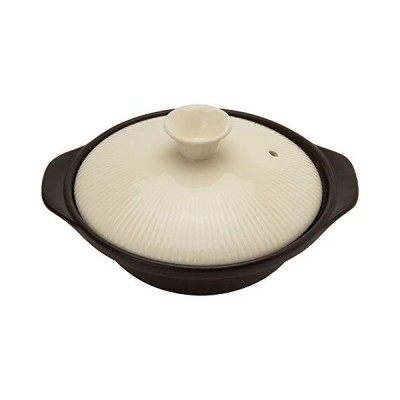 TAMAKI 土鍋 サーマテック 1-2人用 アイボリー 直径22.5×奥行19.4×高さ11.7cm 直火・電子レンジ・オーブン対応 TDF04-6