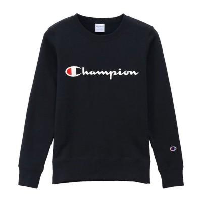 (チャンピオン)ウィメンズ クルーネックスウェットシャツ 19FW (秋冬新作)チャンピオン(CW-Q001) トレーニングウエア スウェットシャツ CW-Q001-370NVY