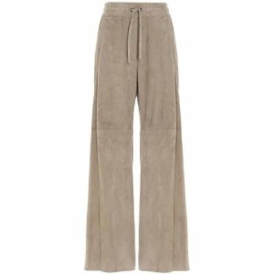 BRUNELLO CUCINELLI/ブルネロクチネリ Beige Suede trousers  レディース 秋冬2021 MPW30P7698C2426 ju