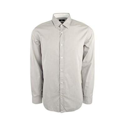 Hugo Boss メンズ カジュアルシャツ レギュラー/クラシックフィット コットンプリント US サイズ: Large カラー: グレー