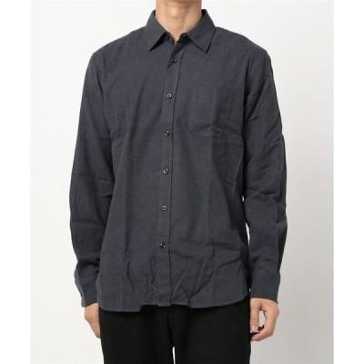 シャツ ブラウス 【BLUE STANDARD】ネル無地シャツ ネルシャツ レギュラーフィット
