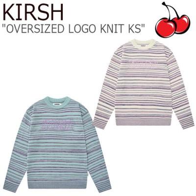 キルシー ニット KIRSH メンズ レディース OVERSIZED LOGO KNIT KS オーバーサイズ ロゴ ニット KS MINT ミント IVORY アイボリー FKPSCWA506M ウェア