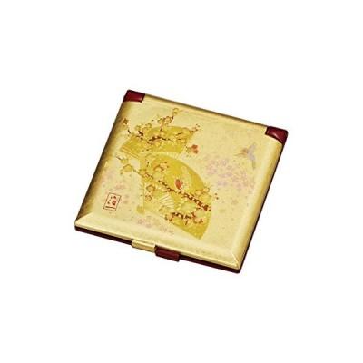 箔一 ミラー ゴールド 70×70×5mm うららか ミニコンパクトミラー A125-02006
