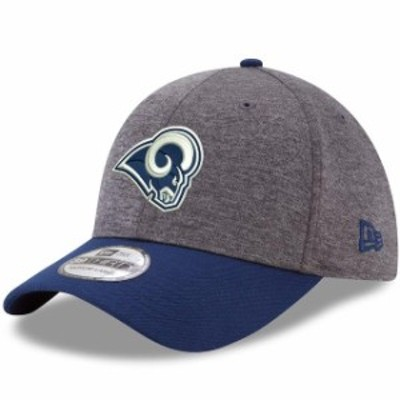New Era ニュー エラ スポーツ用品  New Era Los Angeles Rams Heathered Gray/Navy Shadow Tech 39THIRTY Flex Hat