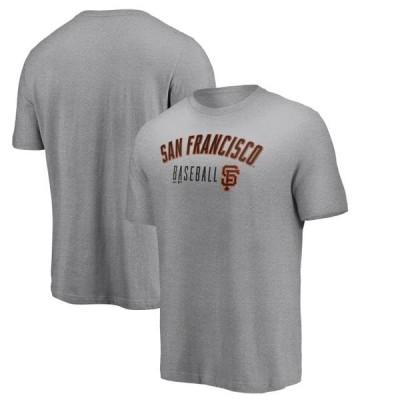 ユニセックス スポーツリーグ メジャーリーグ San Francisco Giants Majestic Open Opportunity T-Shirt - Heathered Gray Tシャツ