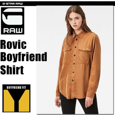 G-STAR RAW (ジースターロゥ) Rovic Boyfriend Shirt (ロービック ボーイフレンド シャツ) テンセル ミリタリーシャツ