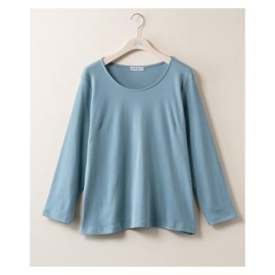 Tシャツ カットソー 大きいサイズ レディース クルーネック 長袖 3L ニッセン