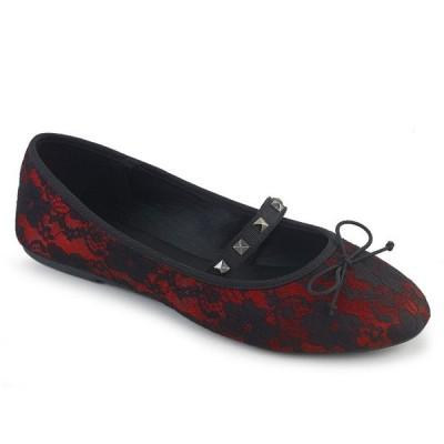 取寄せ靴 DEMONIA デモニア パンプス 赤 レッド 黒 ブラック 大きいサイズあり