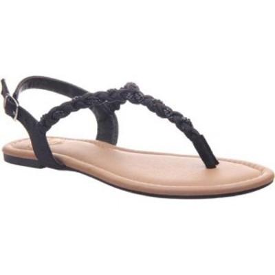 マデライン Madeline レディース サンダル・ミュール トングサンダル シューズ・靴 Charge Braided Thong Sandal Black Textile