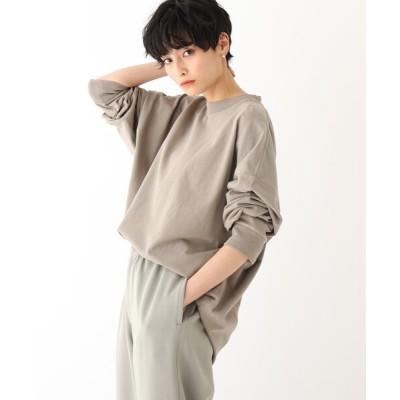 OPAQUE.CLIP / オーガニックコットン 硫化加工オーバーサイズTシャツ【UNISEX】 WOMEN トップス > Tシャツ/カットソー