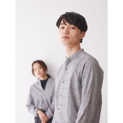 ABAHOUSE / アバハウス 【展開店舗限定】ストレッチオックスバンドカラー シャツ