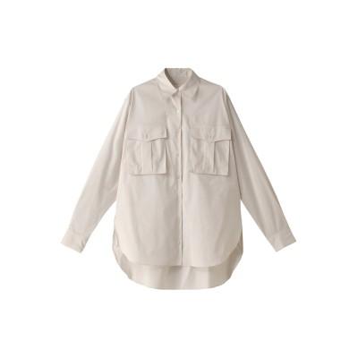 Whim Gazette ウィム ガゼット ボックスポケットオーバーシャツ レディース ライトベージュ F