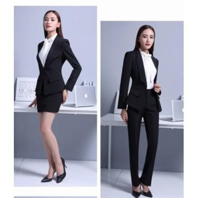 通勤 リクルートスーツ 高品質 就活 2點セットスーツ スカートスーツ 事務服 OL 長袖レディーススーツ フォーマル ビジネス