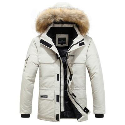ダウンコート ジャケット 男性 厚手綿 マルチポケット フード付き パーカー メンズ カジュアル ファッション
