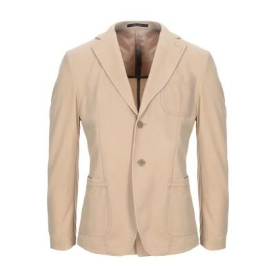 パオローニ PAOLONI テーラードジャケット サンド 50 レーヨン 34% / ナイロン 32% / ポリエステル 26% / ポリウレタン