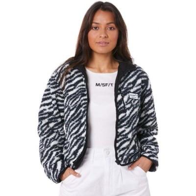ミスフィット Misfit レディース ジャケット アウター you baby sherpa jacket Zebra
