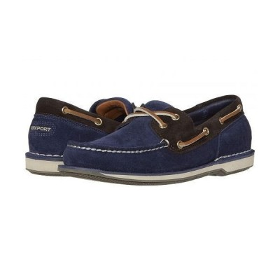 Rockport ロックポート メンズ 男性用 シューズ 靴 ボートシューズ Ports of Call Perth - Navy/Bitter Chocolate Suede