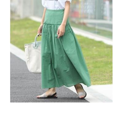 SHIPS any:サッカーギャザースカート