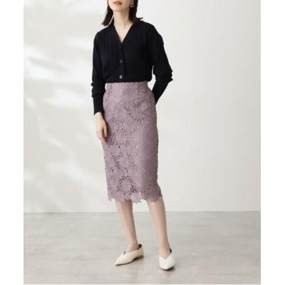 N.Natural Beauty Basic/エヌ ナチュラルビューティーベーシック ケミカルレースタイトスカート モーブ1 M