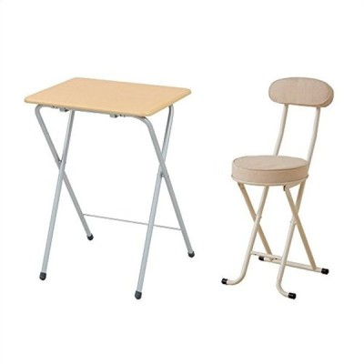 【セット買い】山善(YAMAZEN) 折りたたみミニテーブル(ハイ)テーブル サイドテーブル 折りたたみテーブル ナチュラル YST-504