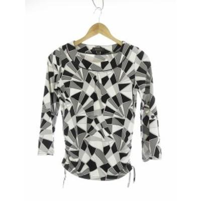 【中古】リフレクト Reflect Tシャツ カットソー 七分袖 総柄 9 黒 ブラック /CK レディース