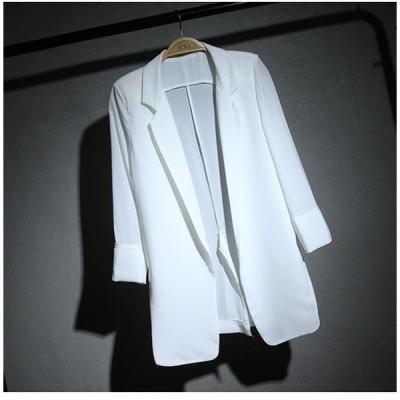 テーラードジャケット シフォン レディース サマージャケット 七分袖 羽織り ライトテーラードジャケット 薄手ジャケット UVカットジャケット