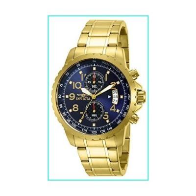 【新品】Invicta Men's 13785 Specialty Chronograph Dark Blue Dial 18k Gold Ion-Plated Stainless Steel Watch(並行輸入品)
