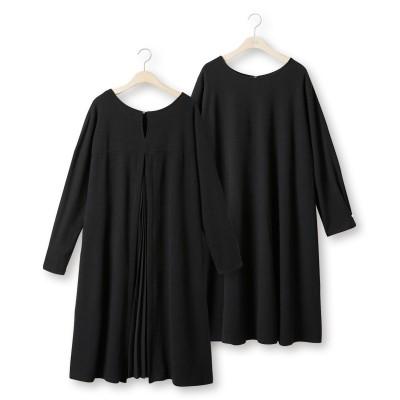 大きいサイズ バックプリーツカットソーワンピース ,スマイルランド, ワンピース, plus size dress