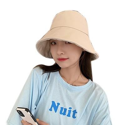 シンプル ナチュラル コットンキャップ小顔効果 バケットハット 韓国帽子 レ