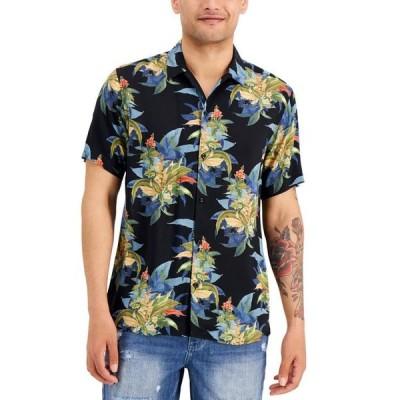 アイエヌシーインターナショナルコンセプト メンズ シャツ トップス INC Men's Tropical Print Short Sleeve Shirt