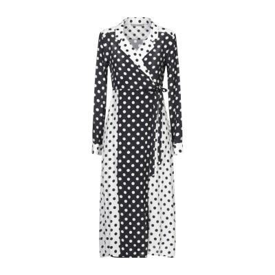 PAOLO CASALINI 7分丈ワンピース・ドレス ブラック S レーヨン 100% 7分丈ワンピース・ドレス