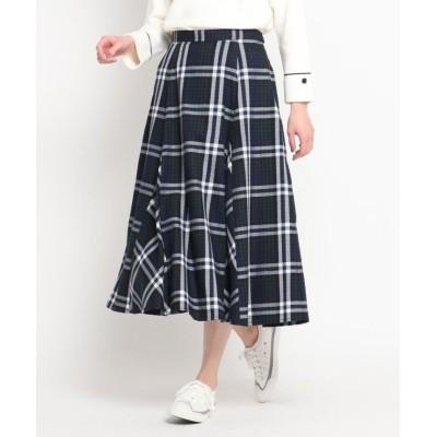 【デッサン】 チェックAラインスカート<セットアップ可> レディース モスグリーン 01(S) Dessin