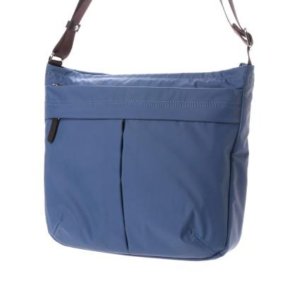 イザック YSACCS ナイロンタフタショルダーバッグ たて型 (D.BLUE)