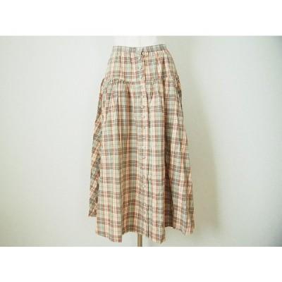 #apc インゲボルグ INGEBORG スカート 緑 チェック レディース [623290]