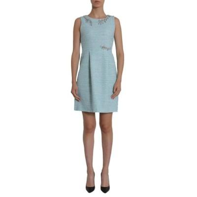 ブティックモスキーノ レディース ワンピース トップス Boutique Moschino Embellished Neckline Tweed Dress -