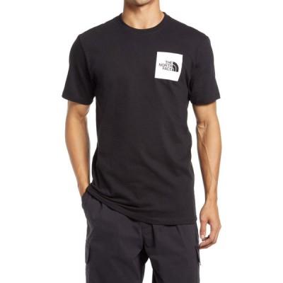 ザ ノースフェイス THE NORTH FACE メンズ Tシャツ ロゴTシャツ トップス Fine Logo Graphic Tee Tnf Black