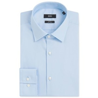 ヒューゴボス メンズ シャツ トップス BOSS Men's Slim-Fit Easy-Iron Cotton Dress Shirt LightPastelBlue