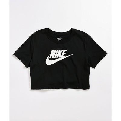 ナイキ NIKE SB レディース ベアトップ・チューブトップ・クロップド Tシャツ トップス Nike Essential Black Crop T-Shirt Black