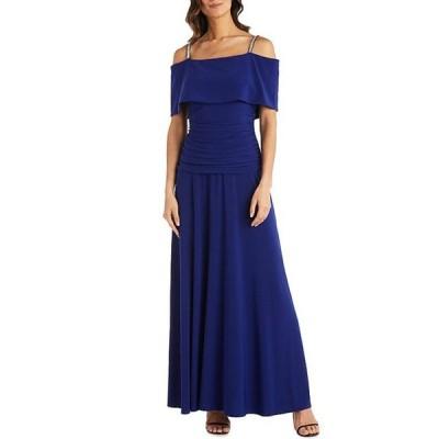 アールアンドエムリチャーズ レディース ワンピース トップス Banded Off-the-Shoulder Ruched Bodice Dress