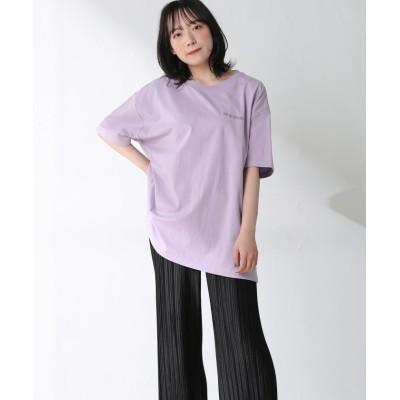 (Honeys/ハニーズ)バックロゴTシャツ/レディース ラベンダー