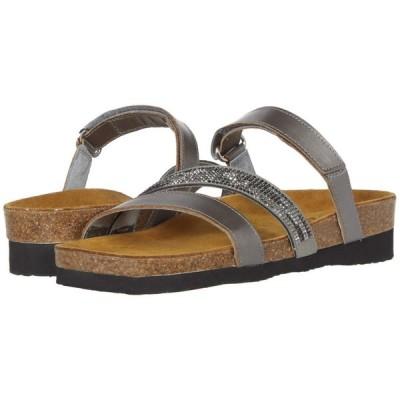 ナオト Naot レディース サンダル・ミュール シューズ・靴 Columbus Mirror Leather/Gray Black Multi Rivets