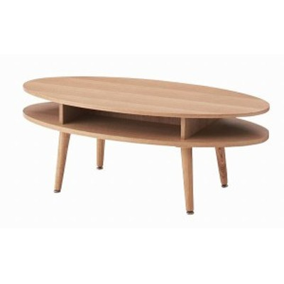 オーバルテーブル NYT-762NA【送料無料】(座卓、ローテーブル、センターテーブル、木製テーブル)