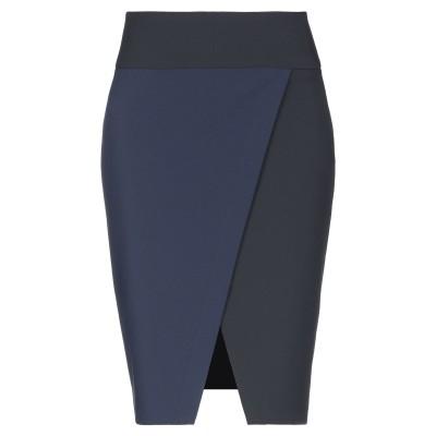 ELISABETTA FRANCHI ひざ丈スカート ダークブルー 40 ポリエステル 96% / ポリウレタン 4% ひざ丈スカート