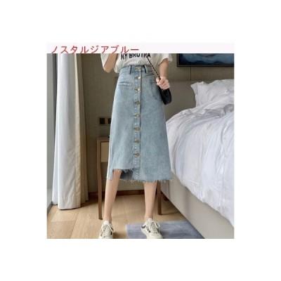 【送料無料】夏 ファッション 不規則な デニムスカート 女の子の長いセクション デザ   346770_A62721-0972207