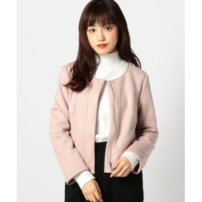 【ミューズ リファインド クローズ】 ウォッシャブルスエードジャケット レディース ピンク M MEW'S REFINED CLOTHES