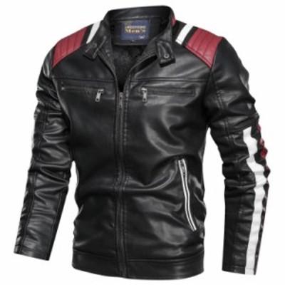 3色 メンズレザージャケット ライダースジャケット バイクジャケット ジャンパー ブルゾン 皮革ジャケット 防寒 厚手 L~6XL