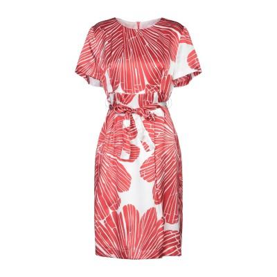 CLIPS MORE ミニワンピース&ドレス レッド 50 シルク 100% ミニワンピース&ドレス