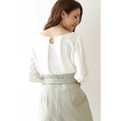 PROPORTION BODY DRESSING(プロポーション ボディ ドレッシング)/◆メタルバー付きVネックノーカラーブラウス